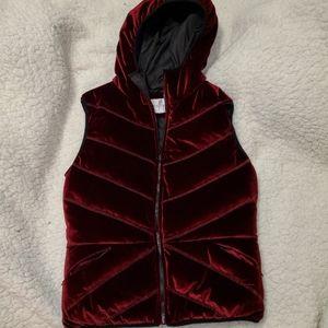 BCBG Velvet Puffer Vest